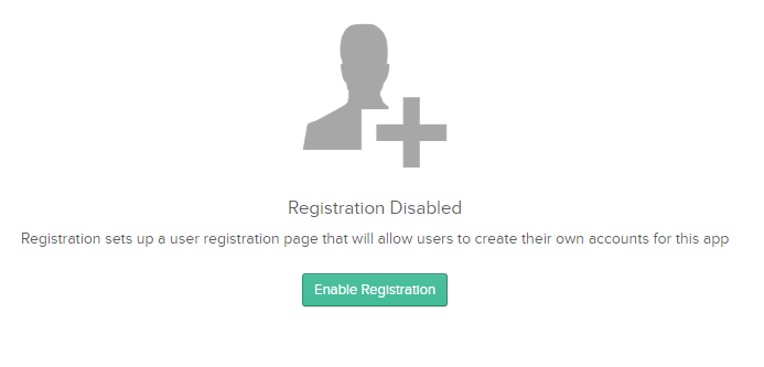 Self-service registration Enabled